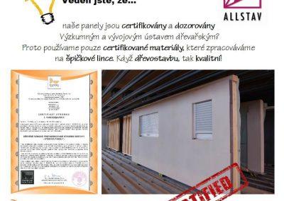 Certifikace a dozor dřevostavby