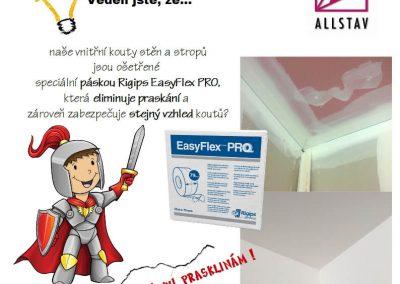 Ošetření páskou Rigips Easyflex PRO