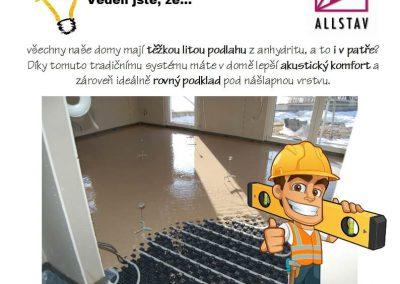 Těžká podlaha z litého anhydritu