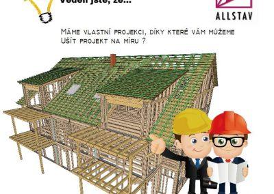 Vlastní projekce dřevostaveb